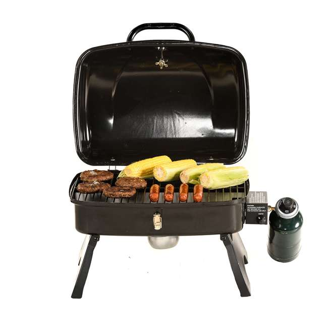 TT250 Smoke Hollow TT250 Single Burner 250 Sq. In. Tabletop Portable Gas Grill, Black 3