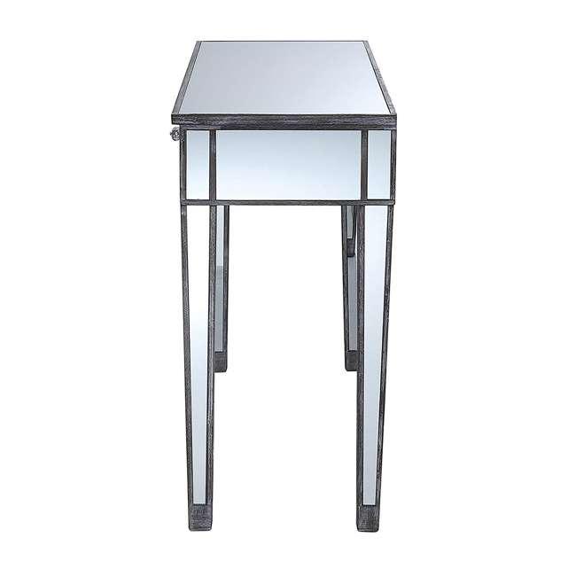 U12-178 Convenience Concepts U12-178 Gold Coast Mirrored Desk Vanity, Weathered Gray 2