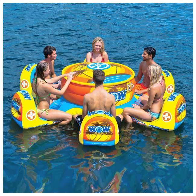 15-2010 WOW Watersports 15-2010 Octo Island 6 Person Pool Float with Cooler and Table 2