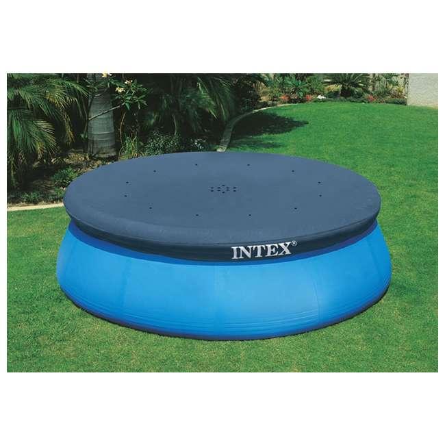 28021E-U-A Intex 10' Easy Set Swimming Pool Debris Vinyl Cover Tarp (Open Box) (2 Pack) 2