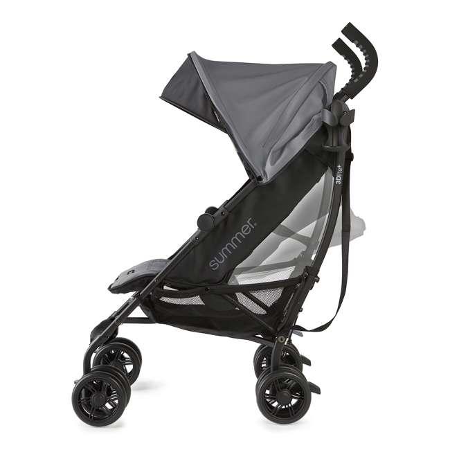 32753 Summer Infant 3DlitePlus Convenience One-Hand Adjustable Stroller Matte Gray 6