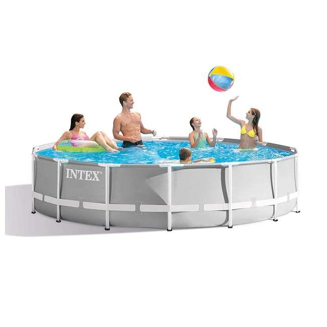 26719EH + 28620E Intex Above Ground Swimming Pool Set & Handheld Vacuum  4
