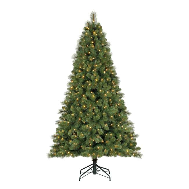 TG70M3W92D00 + GX1623U22F23 Home Heritage 7 Foot Artificial Cascade Pine Christmas Tree with Rotating Stand 1