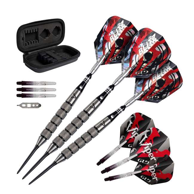 23-2726-26 Viper Blitz 26 Gram 95 Percent Tungsten Steel Tip Darts with Storage Travel Case