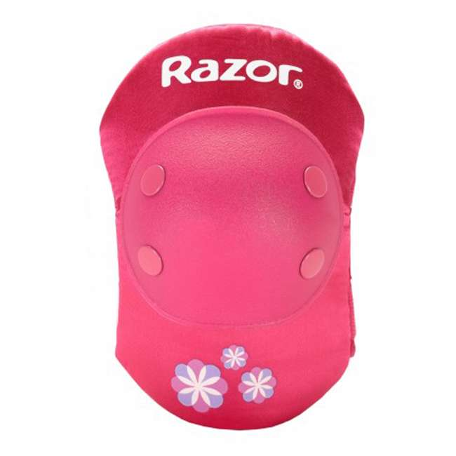 96783 Razor 96783 Child Youth Kids Bike Elbow & Knee Pad Safety Set, Sweet Pea Pink 3