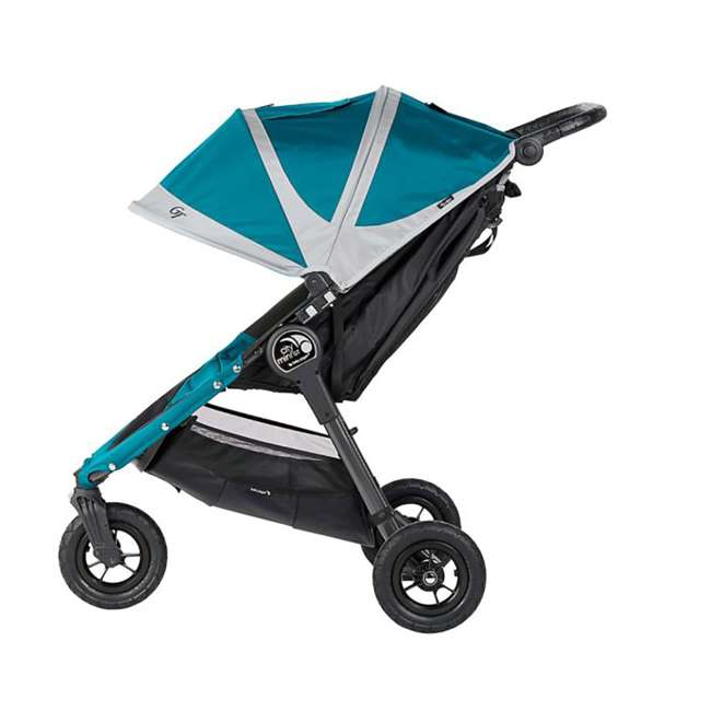 1959401 Baby Jogger City Mini GT Folding Travel Stroller, Teal/Gray 4