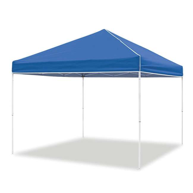 ZSB10EVRBL + ZSHDSK4 + ZSHDWB4 Z-Shade 10 x 10 Foot Instant Pop Up Canopy Tent w/ Steel Stakes & Weight Bags 10