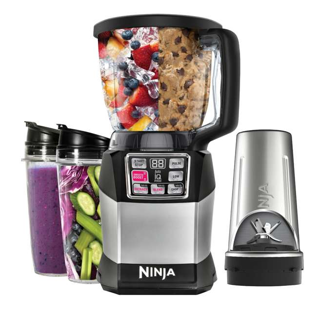 BL492-U-A Ninja Auto-IQ Nutri Ninja 40 Ounce Smooth Boost Blender System (Open Box) 1