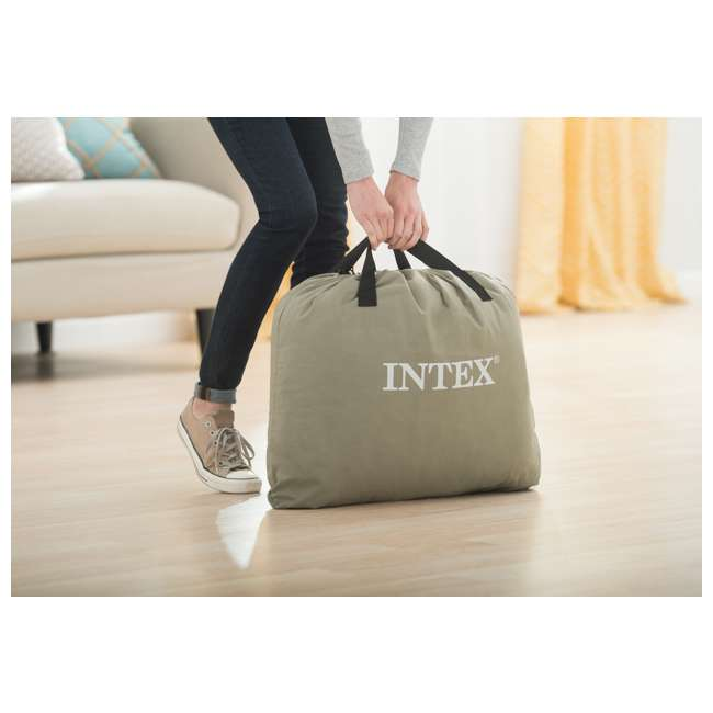 64131EP-U-A Intex Deluxe Pillow Rest Raised Airbed w/ Built in Pump, Twin(Open Box) (2 Pack) 4