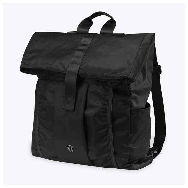 05-62695 Gaiam Yoga Mat Hold-Everything Backpack, Black
