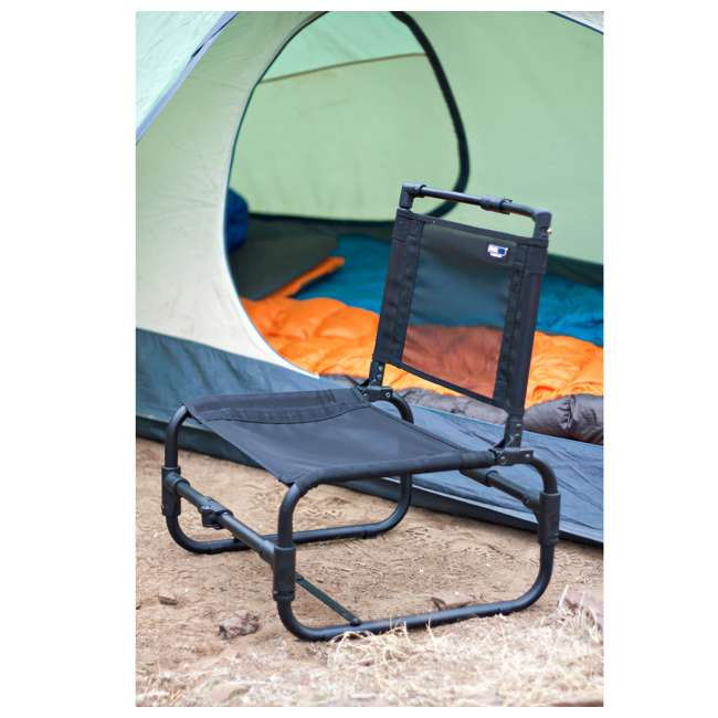 169BK TravelChair 169 Larry Weather Resistant Aluminum Outdoor Camping Chair, Black 4