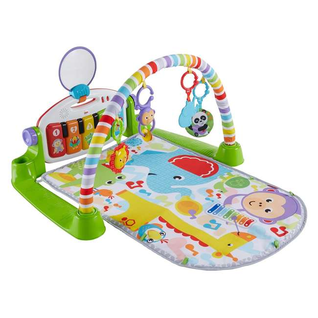FVY57 Fisher Price Deluxe Kick & Play Piano Play Mat with Toys & Piano Keys