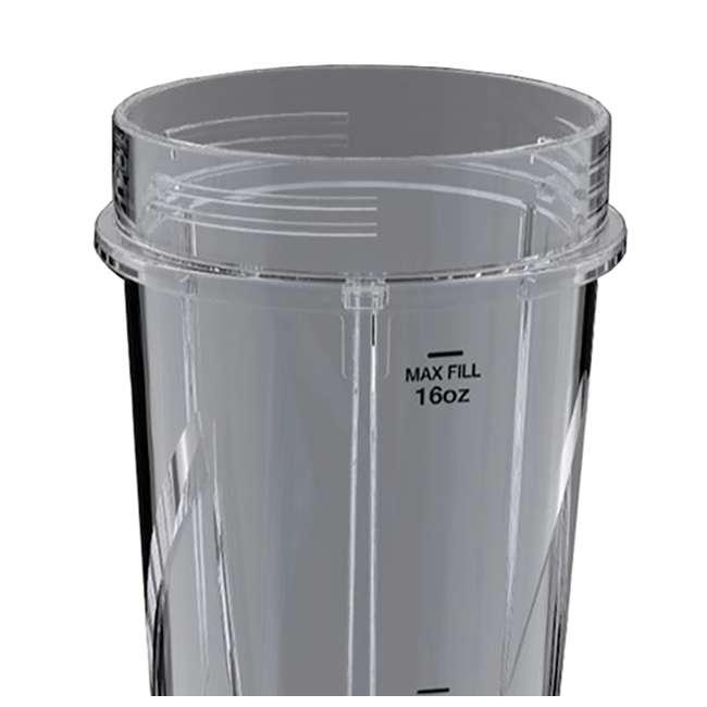 4 x 199KKU Nutri Ninja 16 oz Kitchen System Pulse Blender Cup W/O Lid (Open Box)(4 Pack) 1