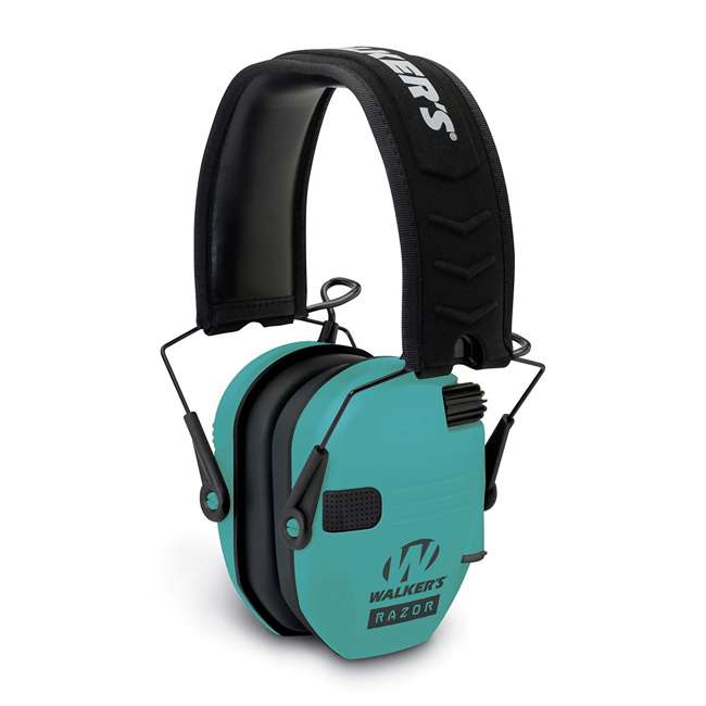 GWP-RSEM-LTL Walker's Razor Slim Hearing Protection Earmuff, Teal