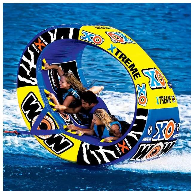 12-1030 Wow Sports 3-Person XO Extreme Towable Rider Tube, Blue 6