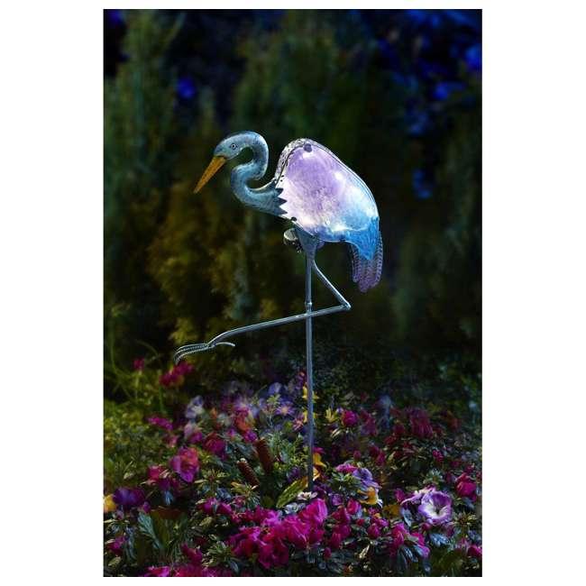 MR-92516 Moonray Outdoor Solar Powered Automatic LED Heron Bird Light 1