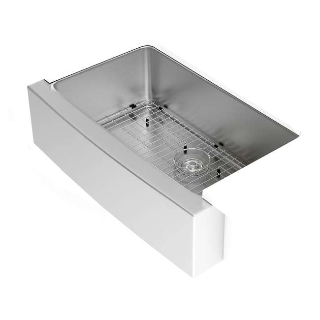KHF200-33-OB Kraus 33-Inch Farmhouse Single Bowl Stainless Steel Kitchen Sink (OPEN BOX) 4