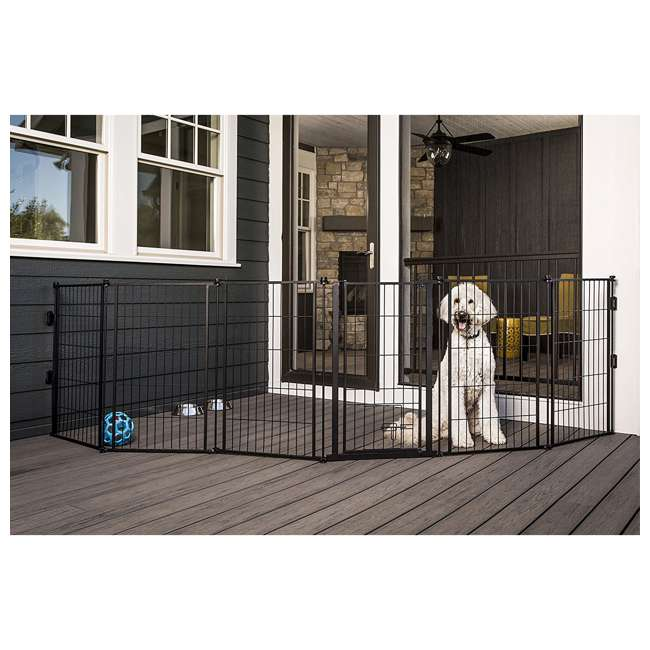 CAR480 Carlson 36-Inch Tall Outdoor Super-Wide Pet Pen and Gate, Black 1