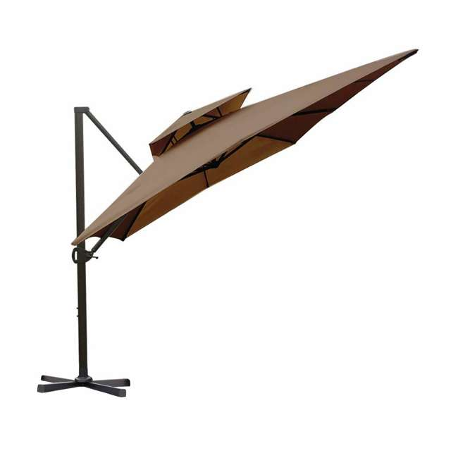 APNDRC912DT Abba Patio 9 x 12 Feet Rectangular Umbrella, Cocoa