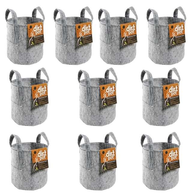 10 x HGDB30 Hydrofarm HGDB30 30 Gal Flexible Dirt Pot Garden Planter (10 Pack)