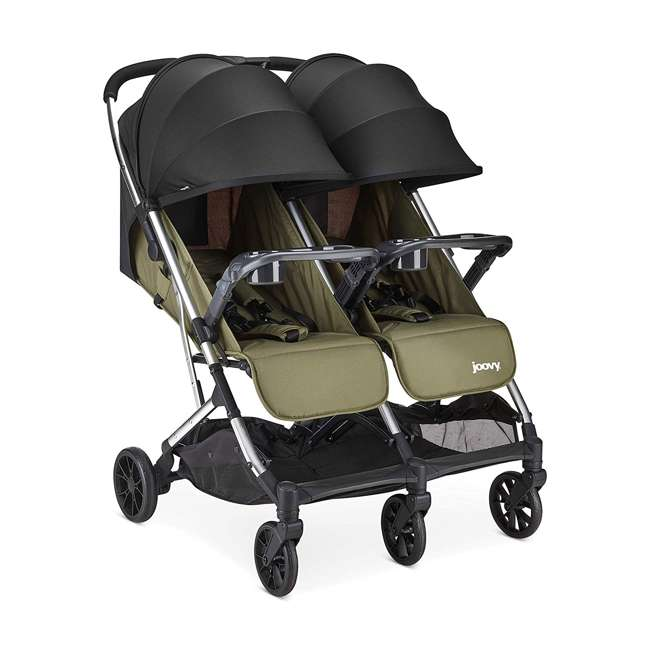 8232 + 9139 Double Folding Adjustable Recline Stroller w/ Ventilated Rain Cover 1