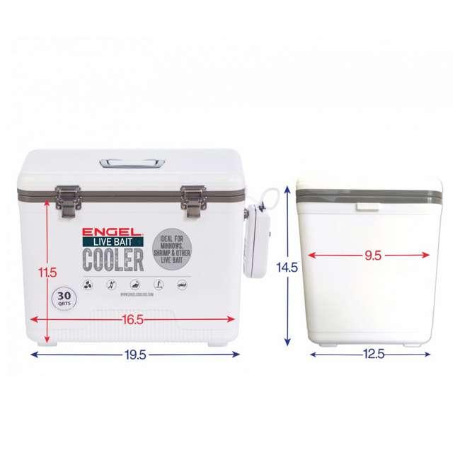 4 x ENGLBC30-N Engel 30 Quart Live Bait Dry Box Cooler (4 Pack) 4