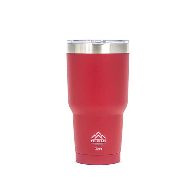 TF30-RED TruFlask TF30 Insulated 30 OZ Stainless Steel Travel Tumbler, Red