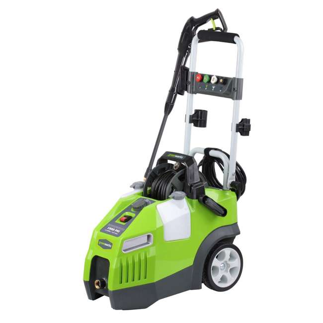 GW-5100902 Greenworks 5100902 1950 PSI 13 Amp 1.2 GPM Pressure Washer with Hose Reel, Green