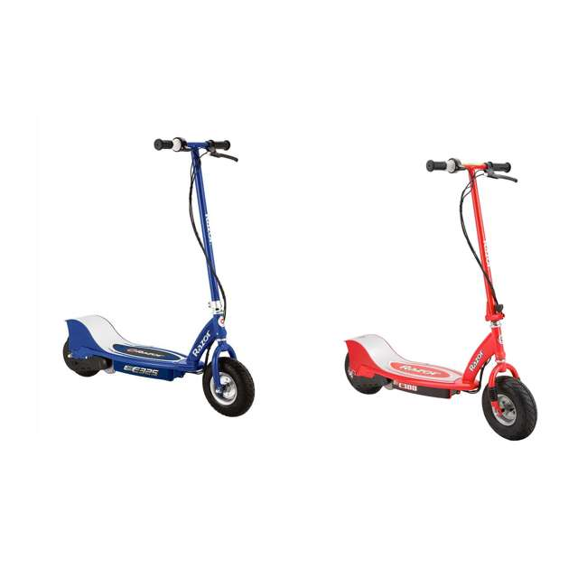 13116341 + 13113697 Razor E325 Electric Scooter, Navy + Razor E300 Electric Motorized Scooter, Red