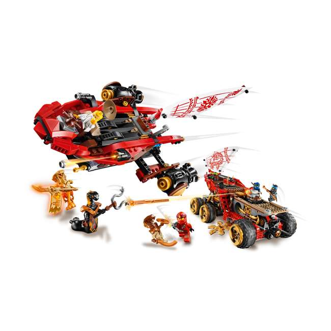 6250934 LEGO NINJAGO 70677 Land Bounty 1178 Piece Block Building Set w/ 9 Minifigures 5