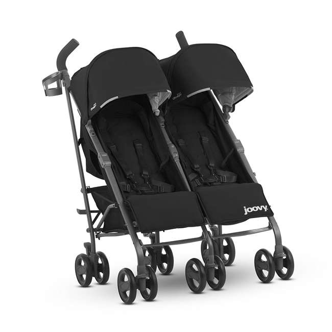 JVY-8087 Joovy Twin Groove Double Ultralight Umbrella Stroller, Black