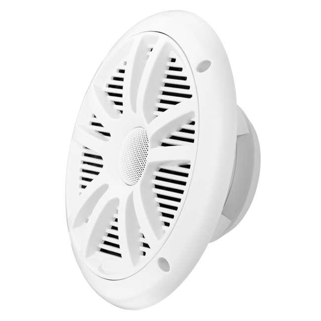 MR6W Boss Audio MR6W 6.5-Inch 180W Dual Cone Marine Speakers - White (Pair) 3