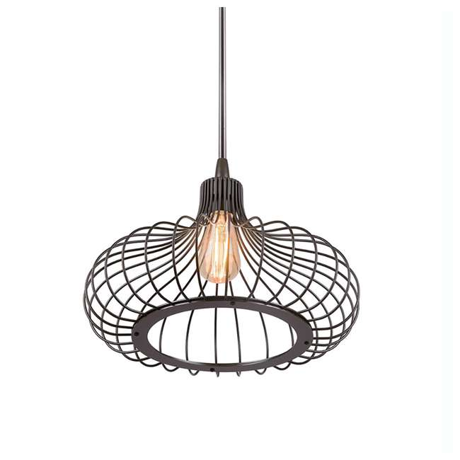 "PLC-4110502U9-U-A Philips 12"" Gabbia Glass Suspension Light Pendant, Oiled Bronze (Open Box) 1"