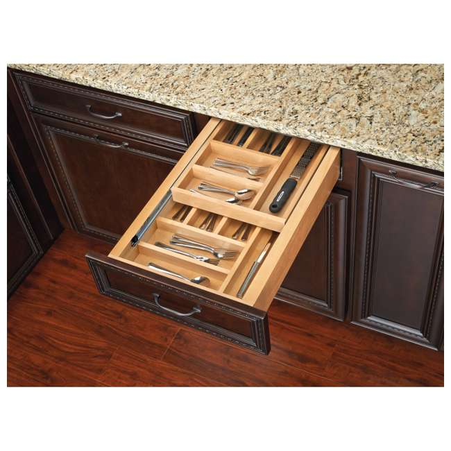4WTCD-21SC-1 Rev-A-Shelf 4WTCD-21SC-1 18 In. Kitchen Utensil Pullout Drawer Organizer, Large 3