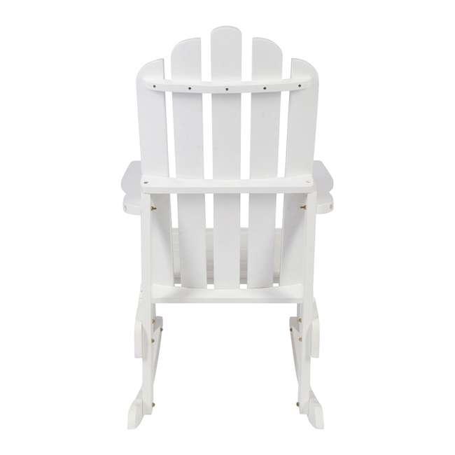 4698WT Shine Company Weather Resistant Cedar Wood Marina Porch Rocking Chair, White 2