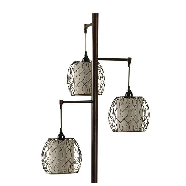 SC-L72385 Abode 84 Clifton Mid-Modern Bronze Floor Lamp with Caged Shades 2