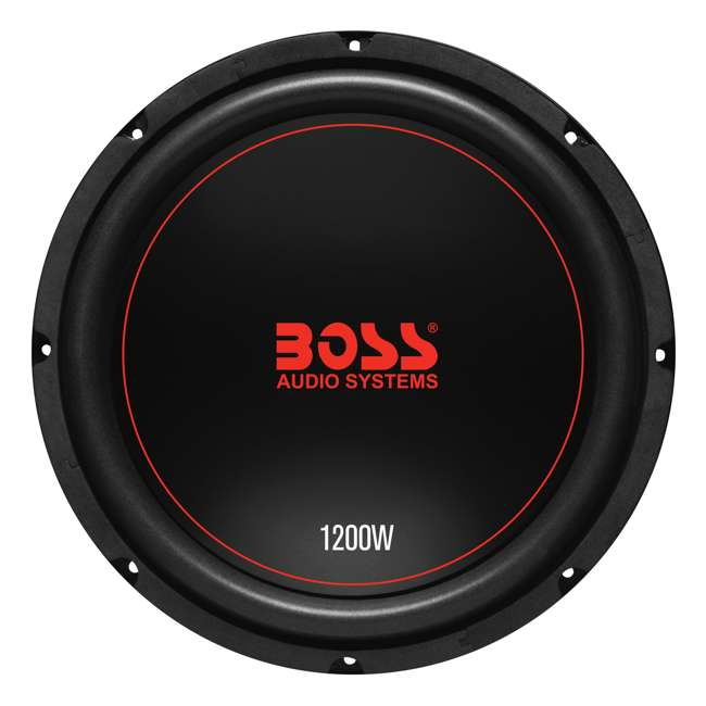 CXX124DVC + QSMBASS12 + R1100M + AKS8 Boss Chaos 12-Inch 1200W Subwoofer (Pair) with Box, Mono Amp & Wiring 2
