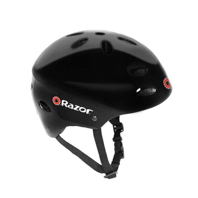 13111141 + 97780 Razor E125 Motorized 24-Volt Rechargeable Electric Scooter, Navy + Razor V17 Childrens Helmet, Black 2