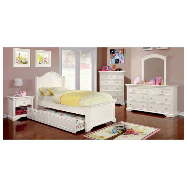 IDF-7943WH-TR-U-A Furniture of America Transitional Child Wood Trundle Only, White (Open Box) 1