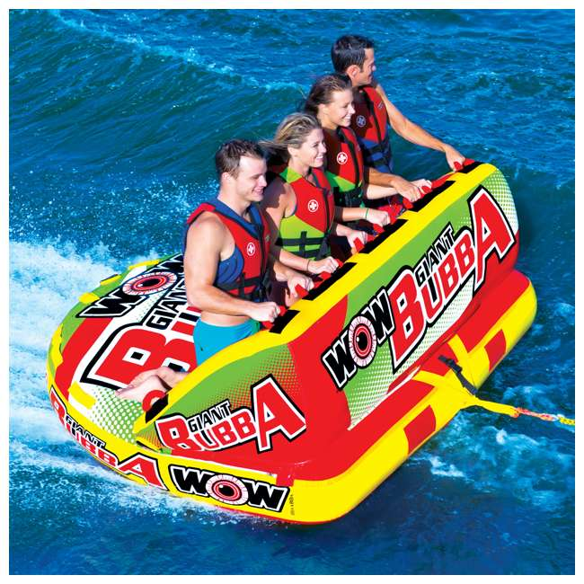 17-1070 World of Watersports Giant Bubba 4 Rider Inflatable Tube 4