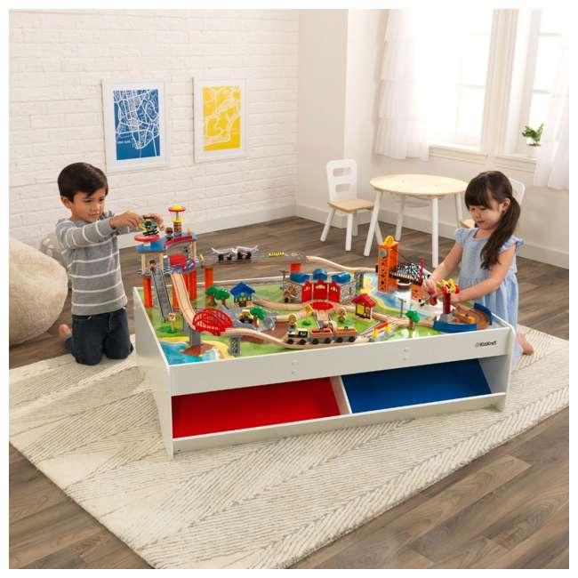 KDK-18012 KidKraft 18012 Railway Express Kid Toddler Wooden 79 Piece Toy Train Set & Table 2