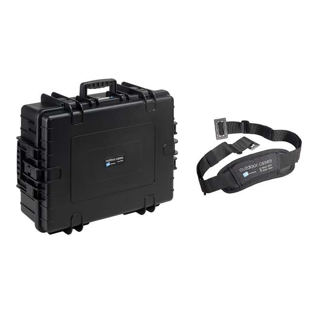6500/B + CS/3000 B&W International 6500/B Hard Plastic Outdoor Case and Shoulder Carry Strap