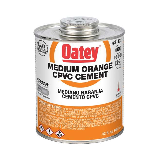 31131 Oatey 31131 32 Oz. CPVC Orange Solvent Cement (2 Pack) 1