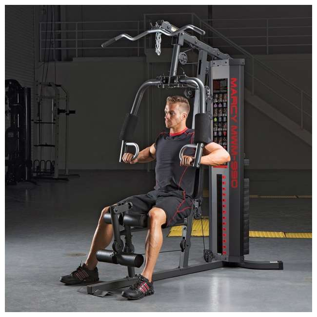 MWM-990-U-A Marcy Dual-Functioning Upper And Lower Body 150-Pound Stack Home Gym (Open Box) 3