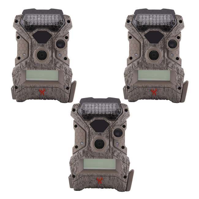 3 x WGICM0558 Wildgame Innovations Mirage No Glow 18 MP Hunting Trail Game Camera (3 Pack)