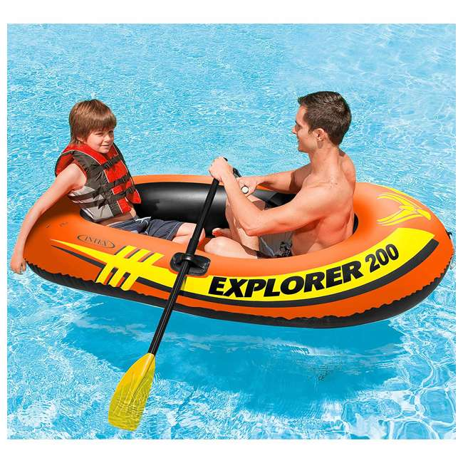 58356WL-U-A Intex Explorer Youth Boat Raft  |   (Oars/Pump Not Included) (Open Box) (2 Pack) 2