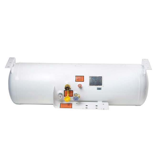 YSN293 Flame King YSN293 29.3 Gallon ASME Steel Empty Horizontal Propane Tank, White