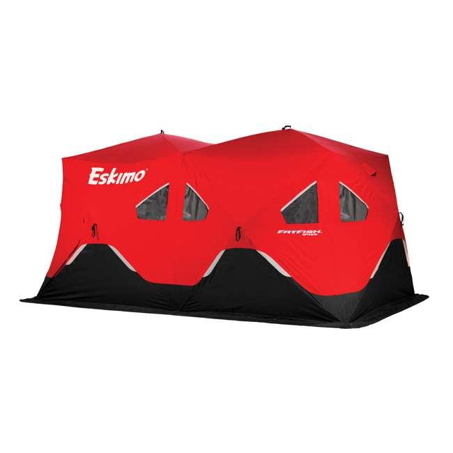 ESK-FF9416-U-B Eskimo FatFish Portable 7-9 Person Pop Up Ice Fishing Shanty Shelter Hut (Used)