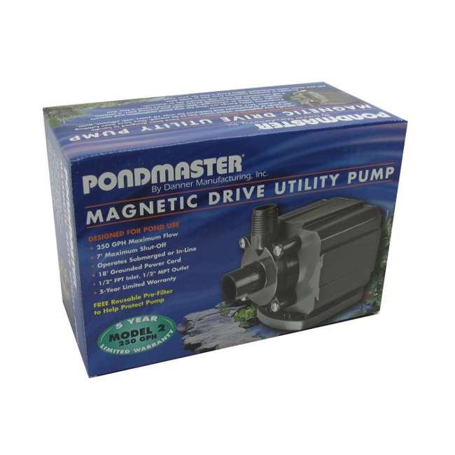 DANN-02522-U-B PONDMASTER PM-2 Supreme Mag Drive Aquarium/Pond Pump 250 GPH Waterfall (Used) 8