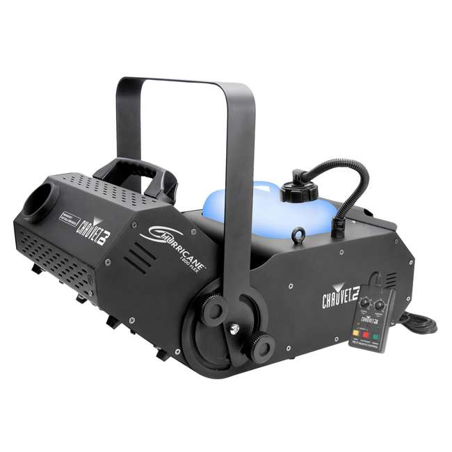 H1800FLEX + FJU + MINISTROBE-LED + BLACK-48BLB Chauvet DJ Hurricane 1800FLEX Fog Machine & Fog Juice, Strobe Light, Black Light 1